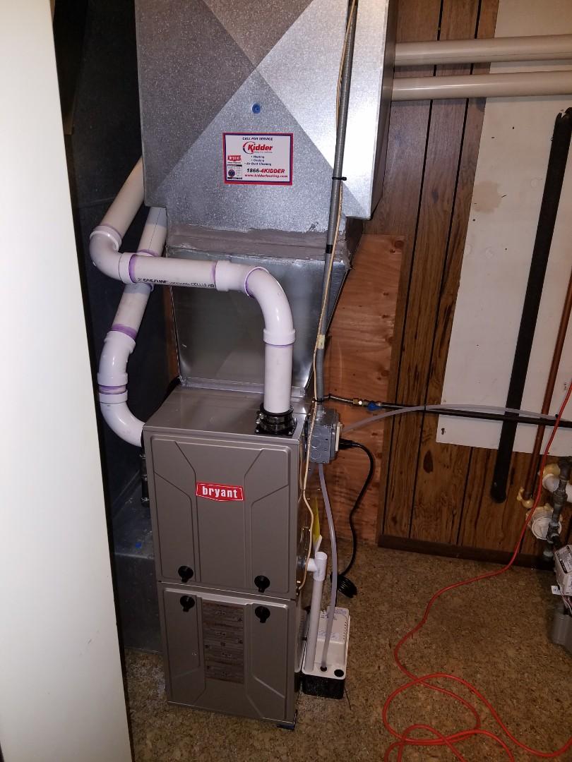 Parma, MI - New Bryant furnace install