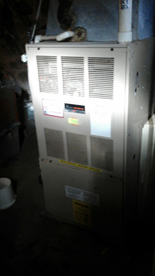 Olivet, MI - Replacement of the safety draft pressure switch on a Amana, condensing, furnace.