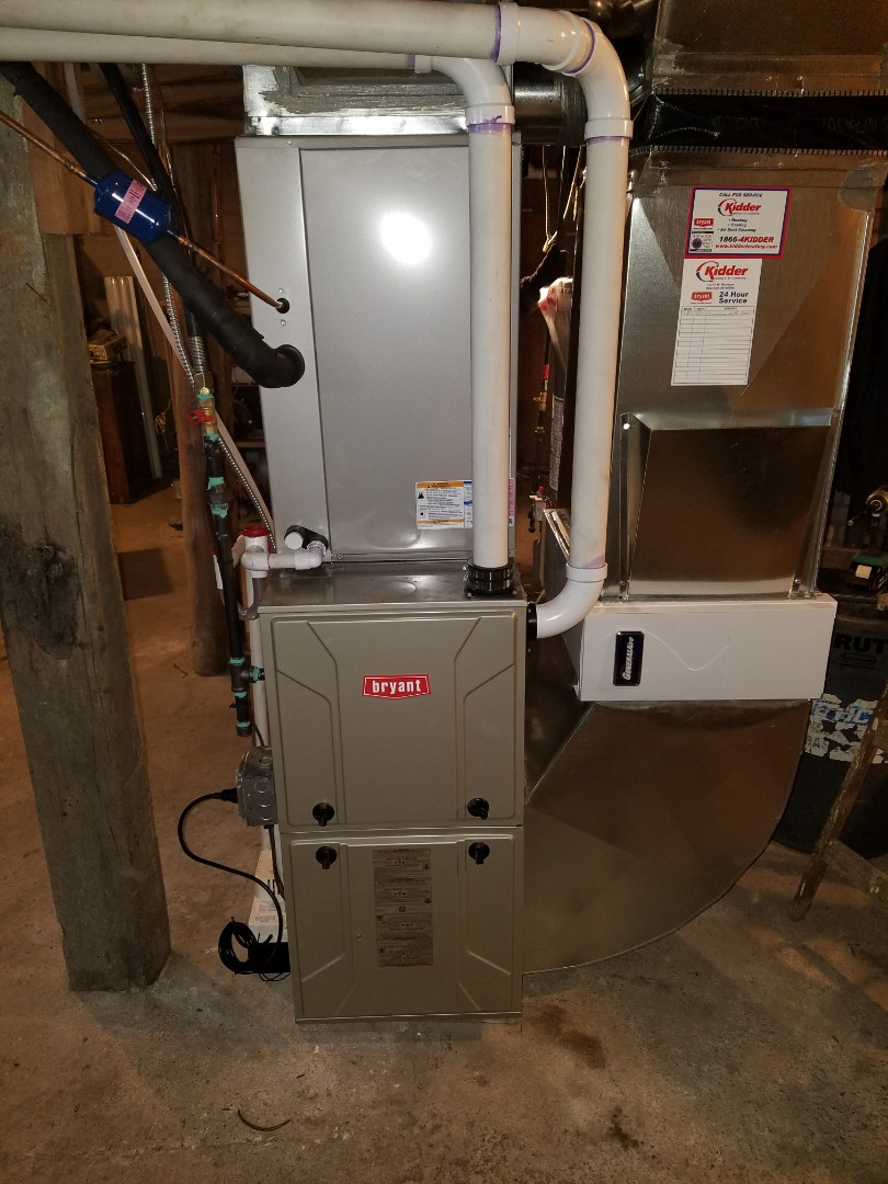 Bellevue, MI - Install new bryant furnace and air conditioner install and
