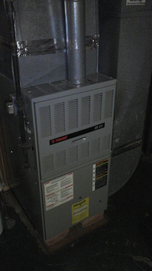 Albion, MI - Cleaning of the flame rectification sensor on a 80% efficient Aire-flo gas furnace.
