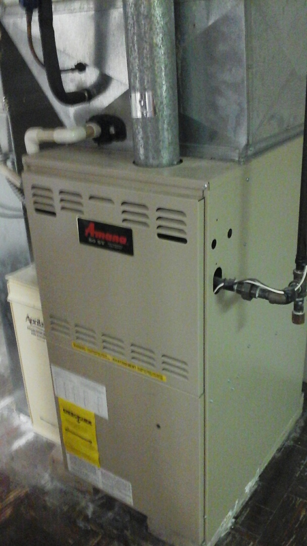 Albion, MI - Yearly maintenance tune up on a amana furnace with a 15 x 20 x 1 filter and condensate pump.