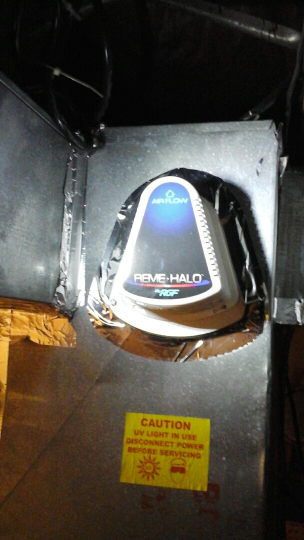 Burlington, MI - Diagnostics on a reme halo air purifier on a Lennox furnace duct system.