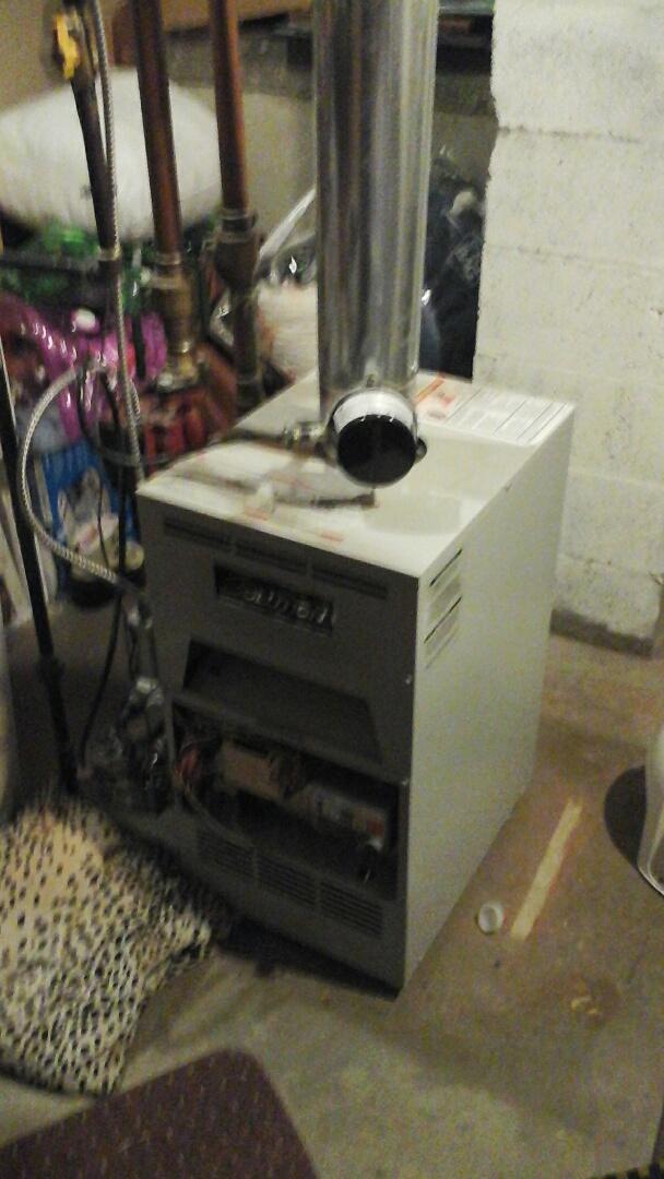 East Leroy, MI - Diagnostics on a Lochinvar, low-pressure boiler.