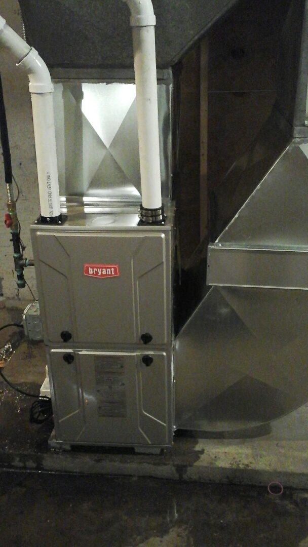 Battle Creek, MI - Yearly maintenance tune-up on a Bryant, high-efficiency gas furnace.