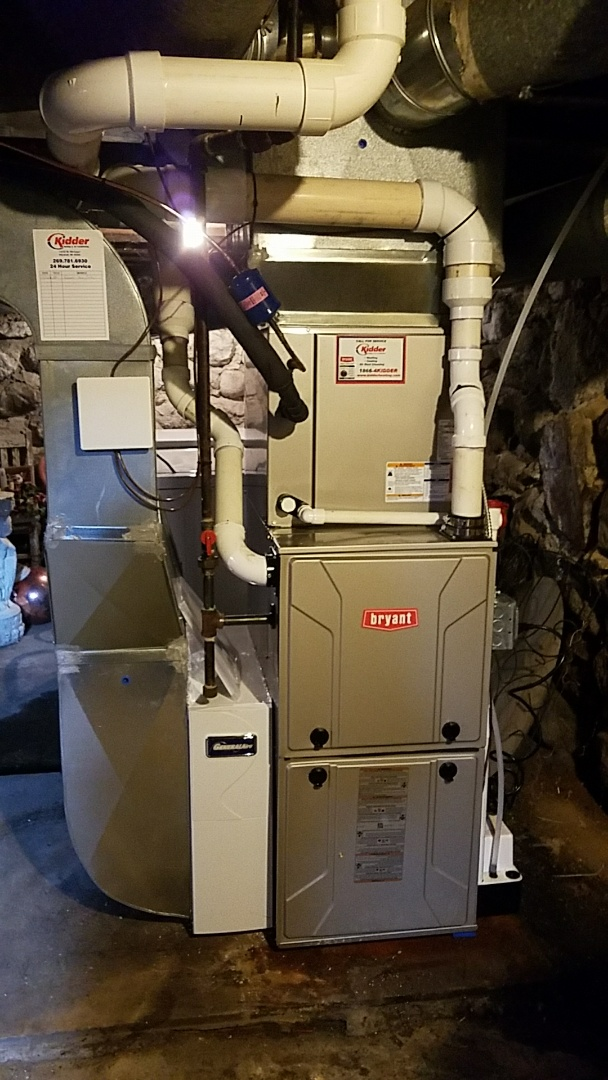 Homer, MI - New Bryant furnace install and air conditioner install