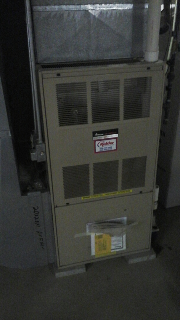 Marshall, MI - Emergency cleaning of the flame rectification sensor on a Amana gas furnace.