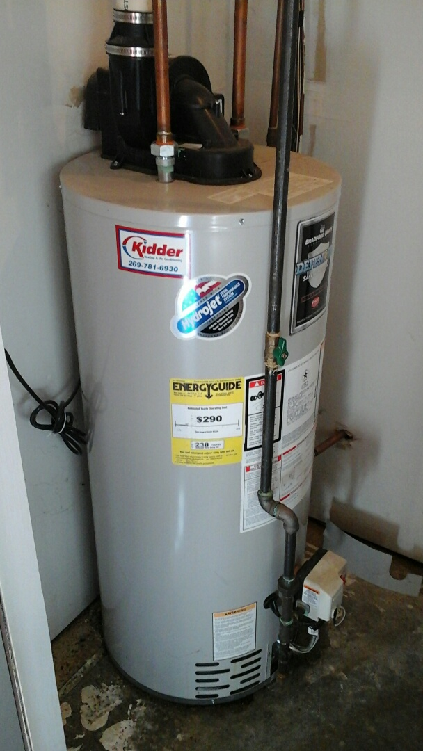Burlington, MI - Replacement of the pilot assembly on a gas fired water heater.