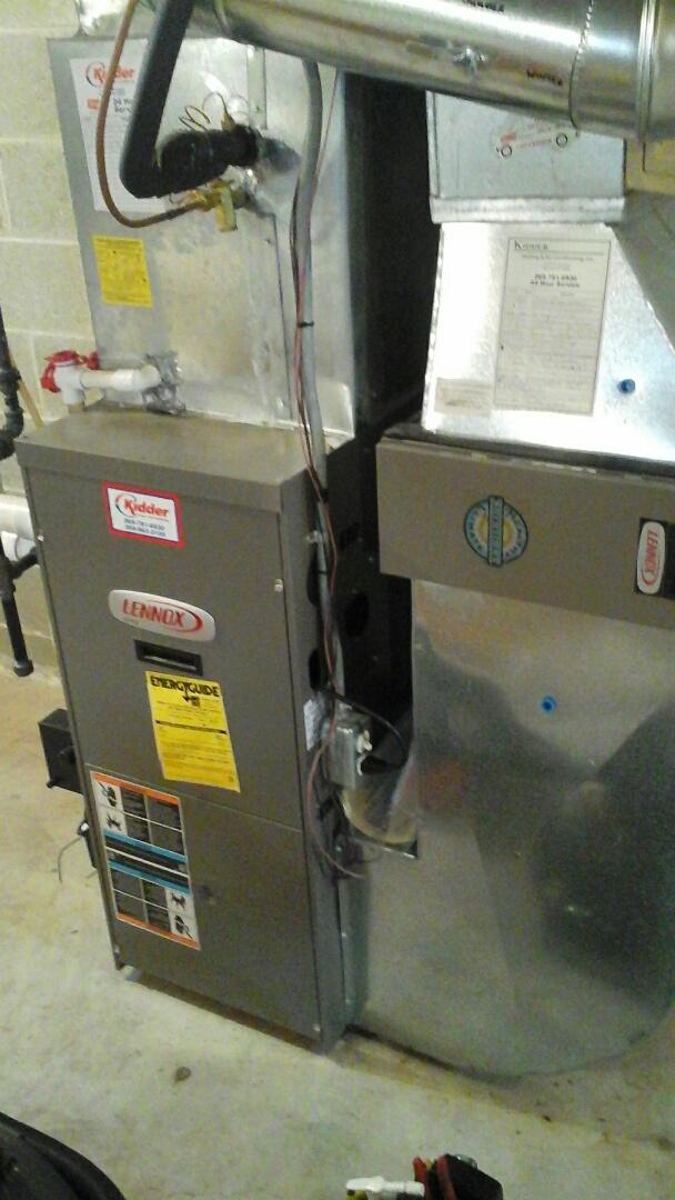 Marshall, MI - Diagnostics on a high-efficiency Lennox gas furnace.