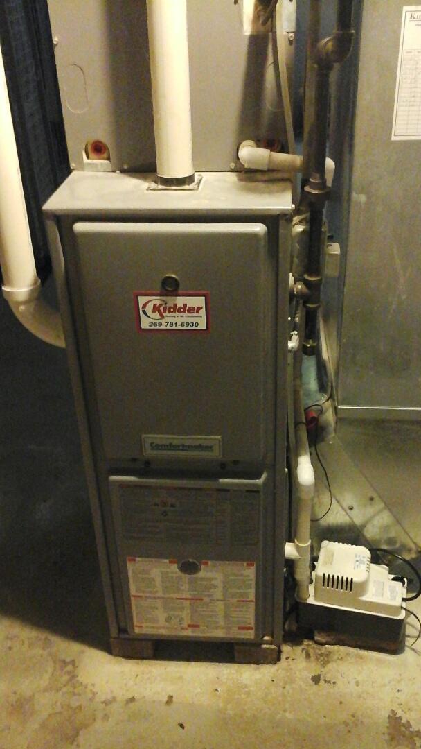Marshall, MI - Diagnostics on a high-efficiency Tappan gas furnace.