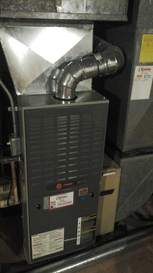 Battle Creek, MI - Yearly maintenance tune-up on a gas fired Trane furnace with a 20 x 25 x 4 media air filter.