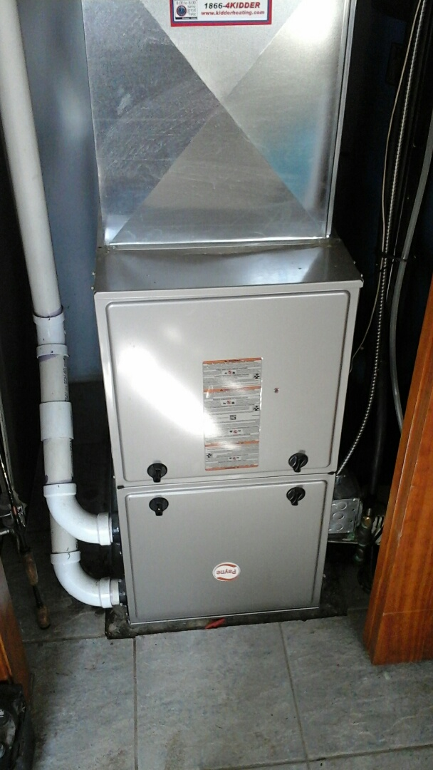 Ceresco, MI - Replacement of the ignitor and filter on a high-efficiency Bryant furnace.