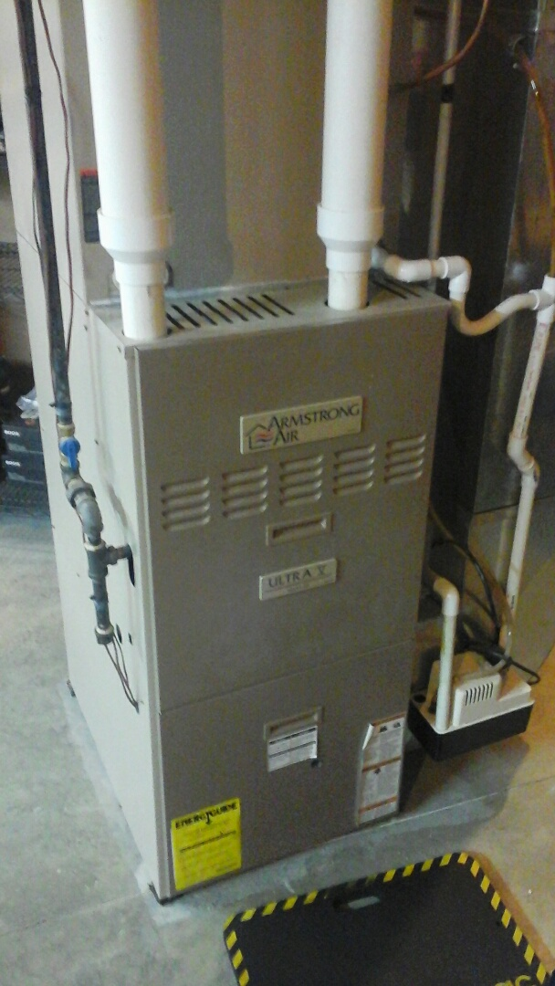 Olivet, MI - Yearly maintenance tune-up on a Miller, counter-flow,  furnace with a 18 x 25 x 1 pleated air filter.