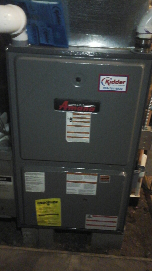 Tekonsha, MI - Precision maintenance tune up on a amana furnace with a 16 x25 x4 media air filter.
