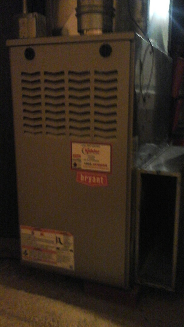 Albion, MI - Residential HVAC maintenance on Bryant 80% furnace