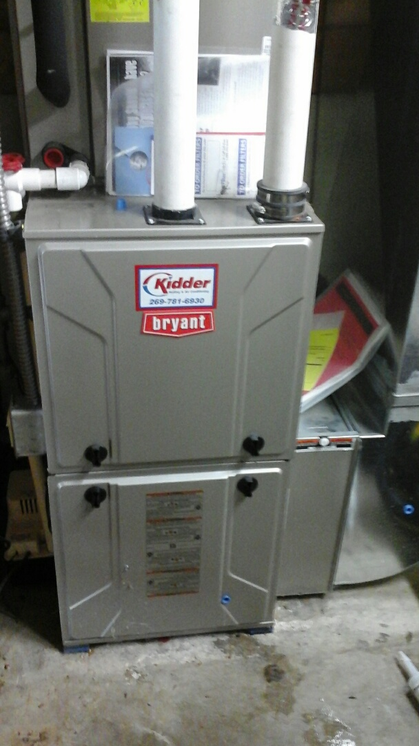 Marshall, MI - Precision tune up on a Bryant condensing furnace.