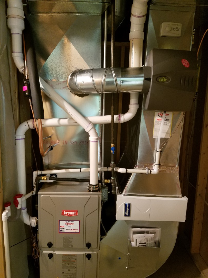 Marshall, MI - New Bryant furnace and Cor Humidifier