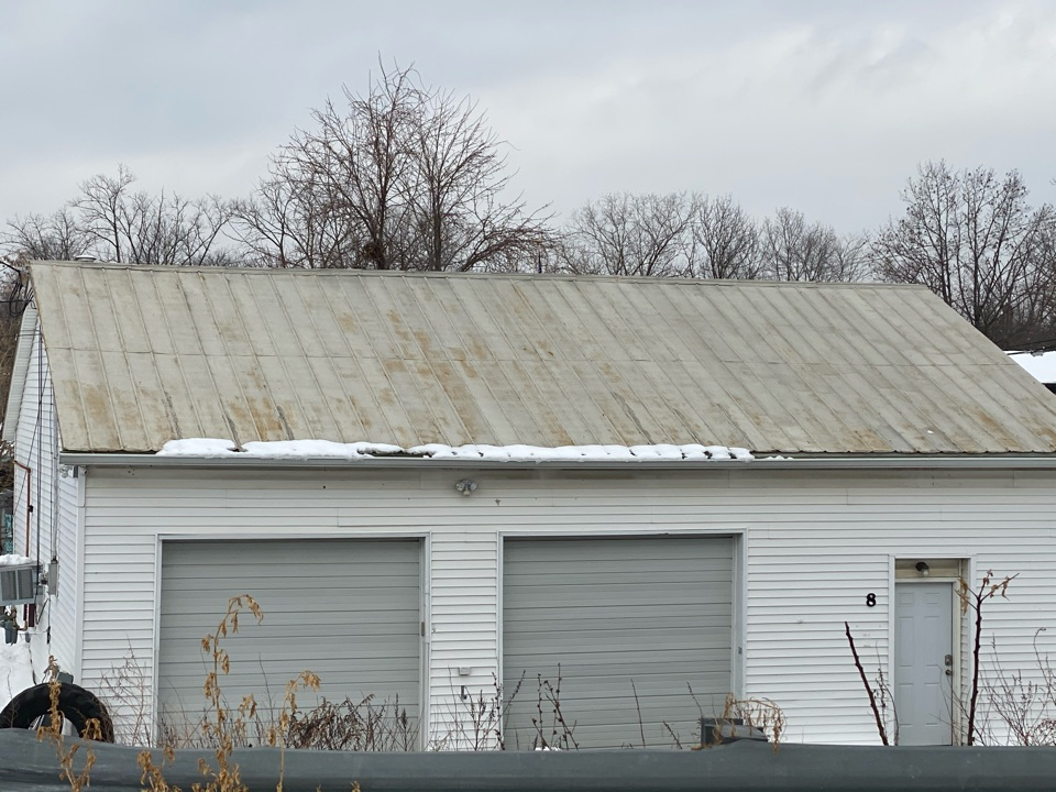 Little Falls, NJ - Estimating commercial garage to receive Engert aluminum Standed Seam roofing panels