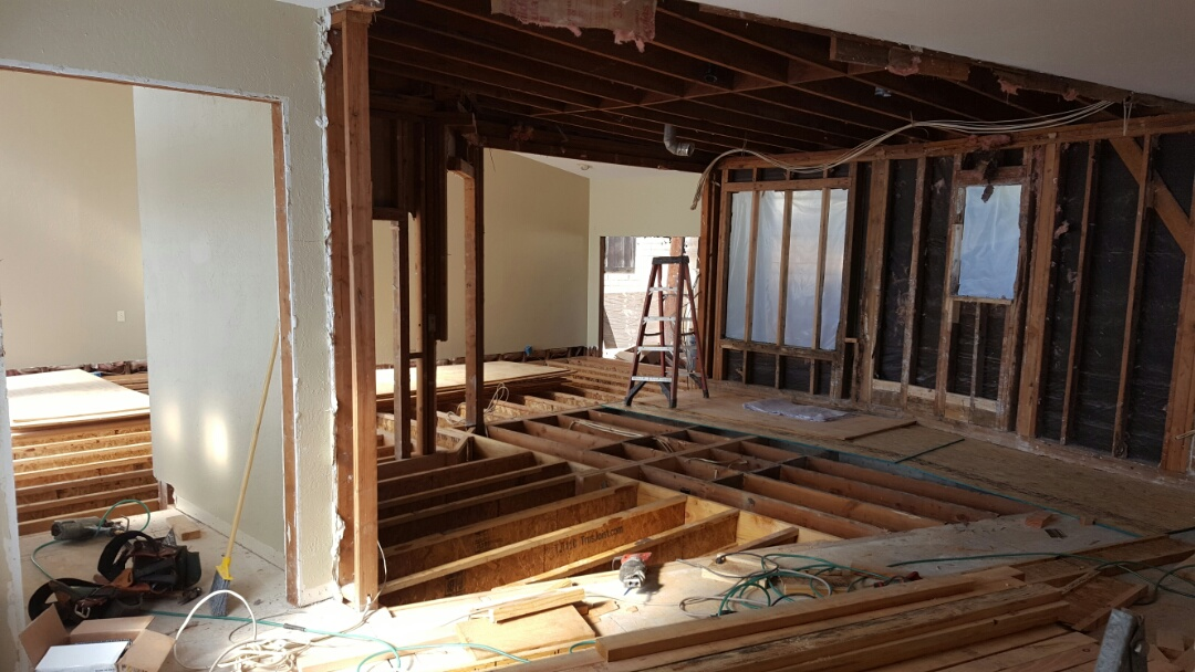 San Diego, CA - Framing in master bedroom suite.