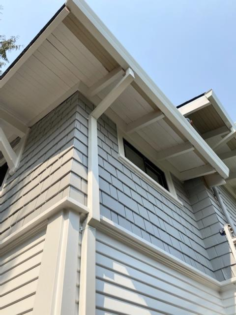 Healdsburg, CA - Another good old 5-inch fascia gutter install in Healdsburg yesterday. It may seem like small details, but the right gutters protect your home AND add to its curb-appeal!