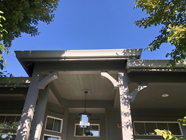 Healdsburg, CA - Back in Healdsburg, CA to get this home ready for winter! Installed seamless gutters, downspouts, AND micro mesh: a great, cost-effective option for homes with light debris!