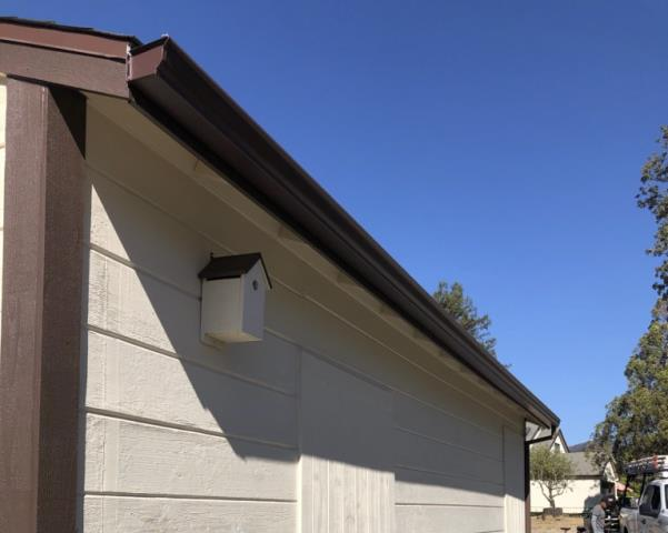 Santa Rosa, CA - 50 more feet of seamless gutters and downspouts to match on this Santa Rosa property! Replacing old or malfunctioning gutters and downspouts can be the difference between a stress-filled winter or a stress-free one; call us today for a rep to come to your home and evaluate your gutters for free!