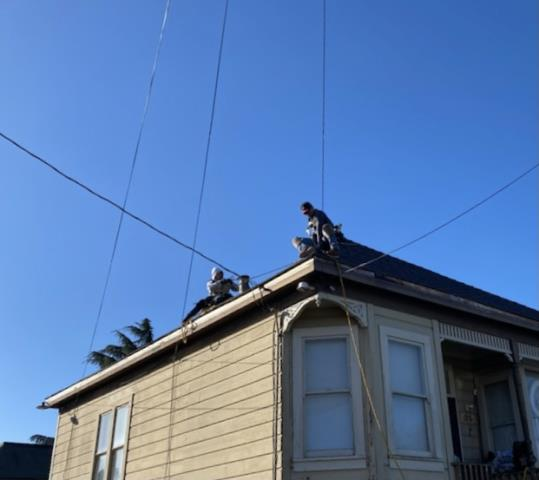 Vallejo, CA - Had our guys harnessed up and ready to go on a 160-foot seamless gutter install in Vallejo, CA yesterday! Visit www.homepro360.com to find out how to get your gutters replaced or protected today!