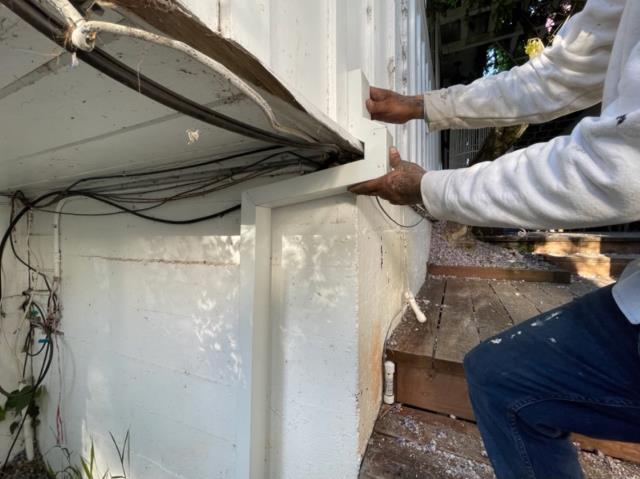 Sebastopol, CA - Gotta love configuring downspouts around crazy corners! No matter the obstacles, we'll make sure water flows smoothly without causing structural damage!