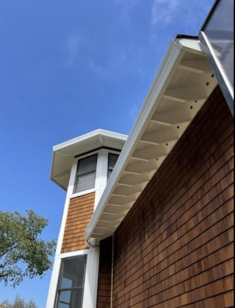 Novato, CA - Finished up this home in beautiful Novato, CA today! 355 feet of seamless gutters, micro-mesh, and downspouts and this house is ready for whatever the weather throws at it!
