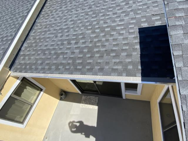 """San Rafael, CA - Great to work on another job in sunny San Rafael today! Customer said they wanted this micro mesh """"flat as a pancake"""", can do! And with new seamless gutters and downspouts to match this house is going to be a debris-shedding machine!"""