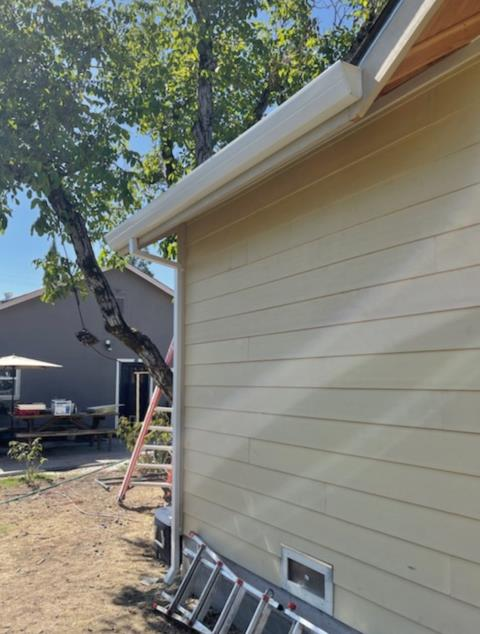 """Cloverdale, CA - We've been offline a while, and you're probably wondering: do they even still do gutters? The answer is an enthusiastic """"yes""""! If we stopped doing gutters, what would we do with this gem of an account? And for those wondering, these are some sweet sweet 5-inch fascia gutters from Cloverdale."""