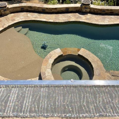 Sonoma, CA - OBVIOUSLY we're focusing on our killer micro-mesh protection option for lighter debris here…definitely not the beautiful refreshing pool…that would be crazy…