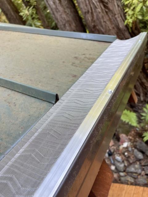 Santa Rosa, CA - It's been suggested our last post didn't focus enough on our Micro-Mesh gutter protection system. An insane claim, but we do aim to please. Here she is in all her glory - a great option for homes that need protection from lighter debris!