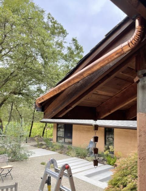 Sonoma, CA - Who had copper gutters as their guess??? Anytime we go too long without installing / posting about these beauties we start to miss them so here are some stunning copper downspouts to satisfy everyone!
