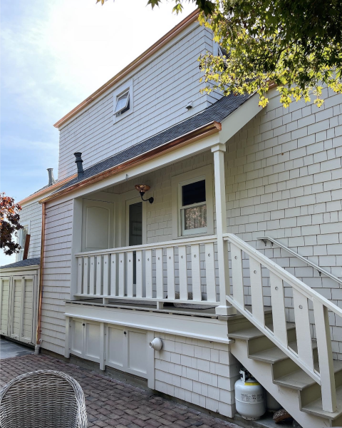 BEL TIBURON, CA - We're beginning to suspect our customers are reading our ramblings about copper gutters and purchasing accordingly… and we're LOVING IT. KEEP EM COMING!