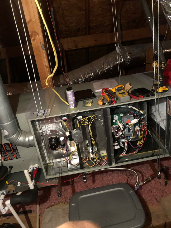 Single system gas heat preventative maintenance here and Sachse Texas