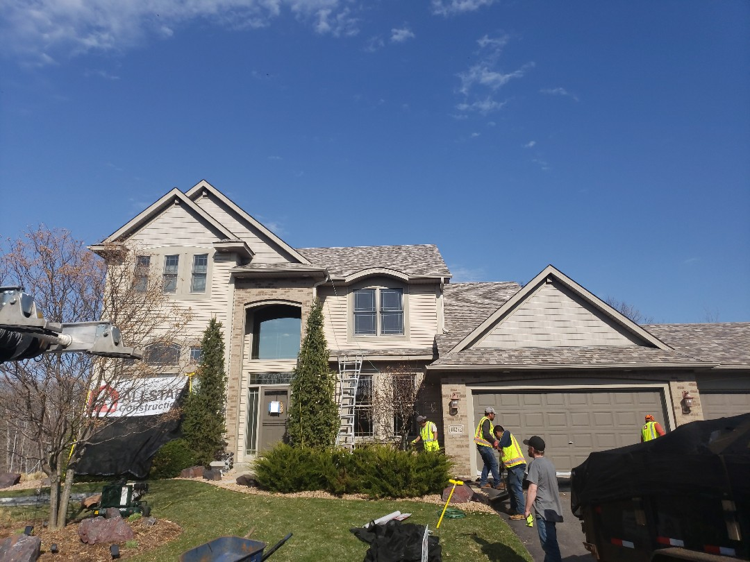 Lakeville, MN - Wrapping up another roofing storm repair using Owens Corning Duration in Sand Dune.