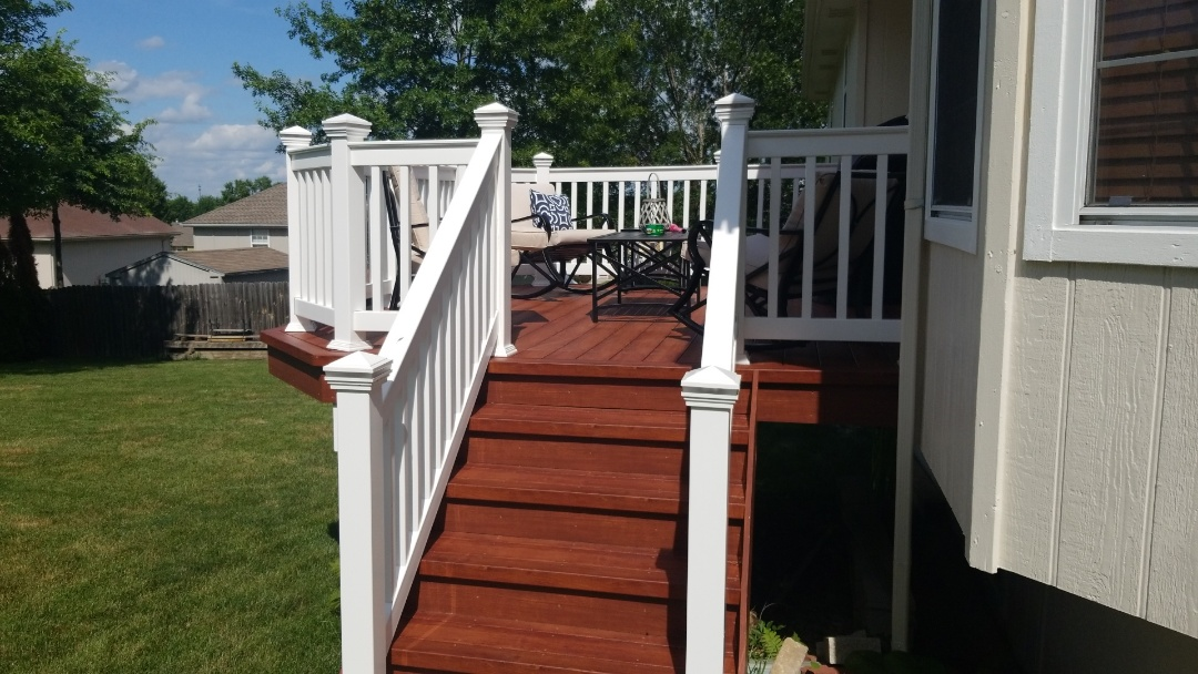 """Grain Valley, MO - """"Our deck is truely a work of art"""""""