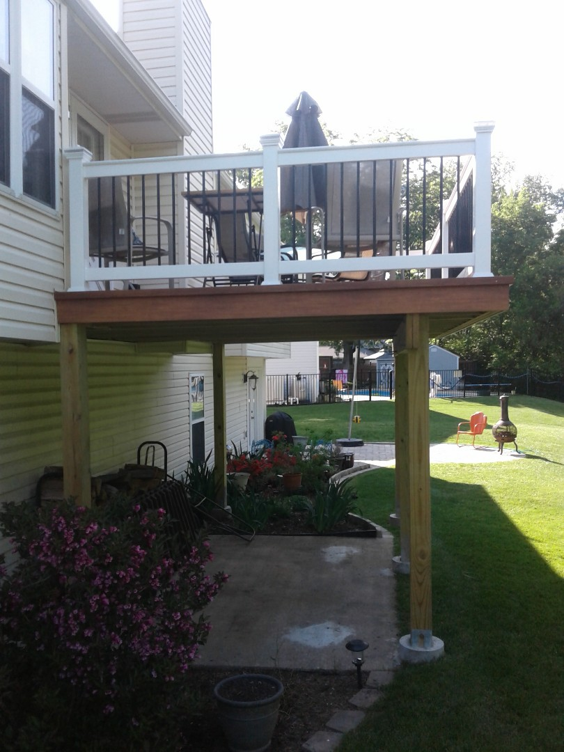 Saint Charles, MO - Kevin loves his new low maintenance Deck!