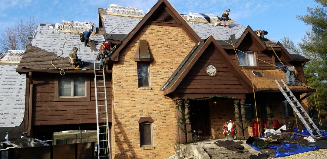 Fairview Heights, IL - Roof and gutters