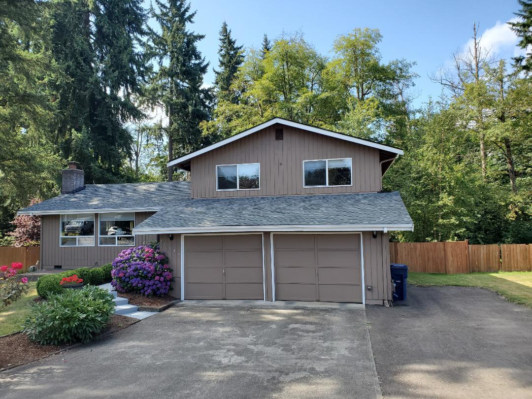 Federal Way, WA - Install Pabco Pewter Gray shingles.
