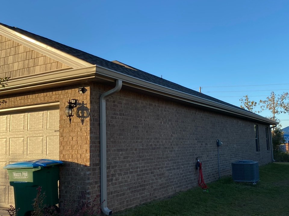 Installed a 6 inch seamless gutter and downspouts