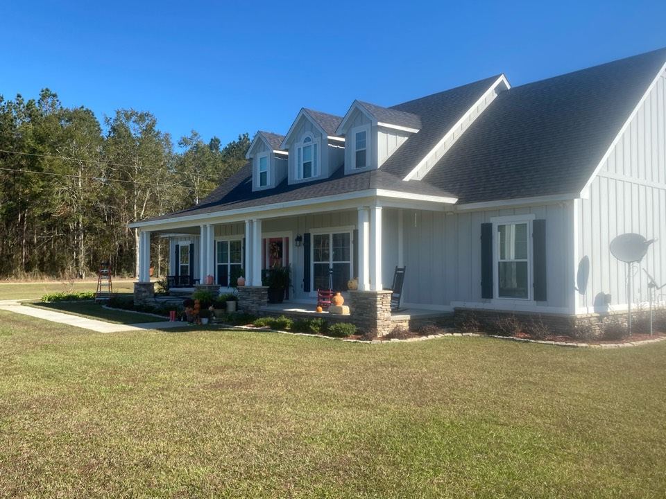 We are about to install 6 inch seamless gutters on this beautiful home .