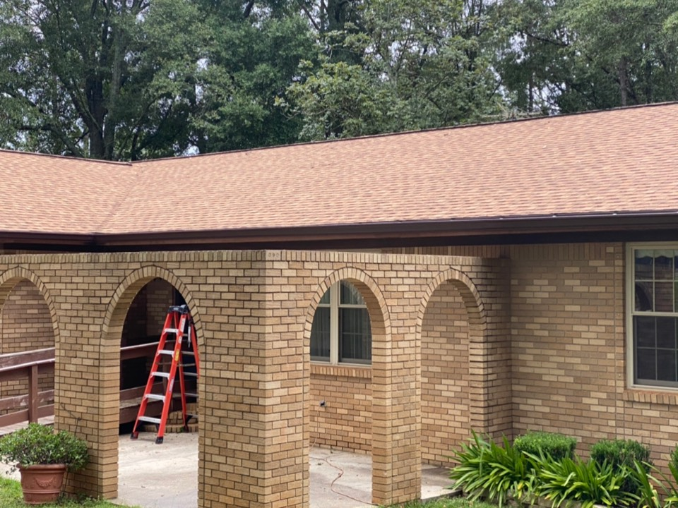Installed a 6 inch Royal brown seamless gutter