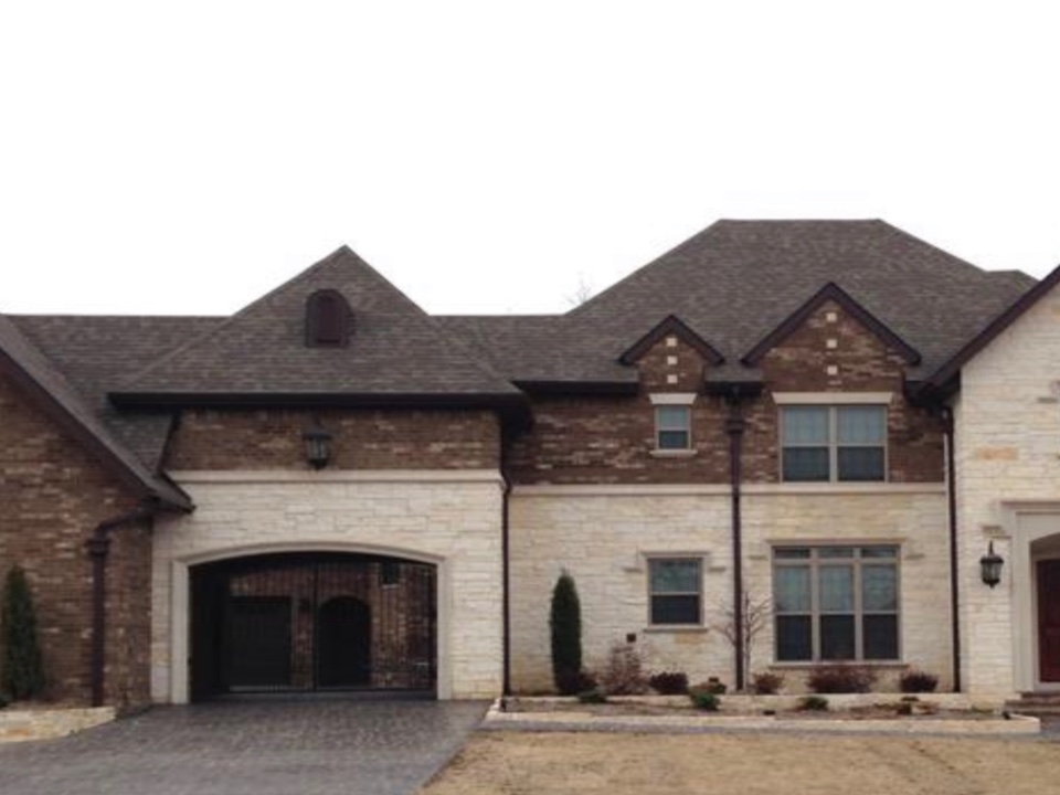 Installed 6 inch musket brown seamless gutters on this beautiful home .
