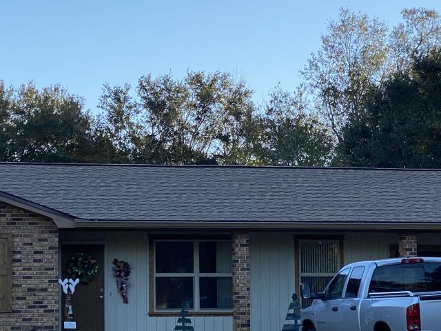 installed a 6 inch seamless gutter with downspouts