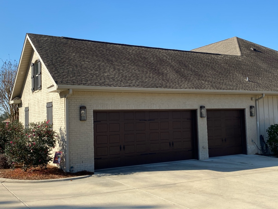 Pace, FL - Installed 6 inch clay seamless gutters and downspouts on this beautiful home In Pace Fl