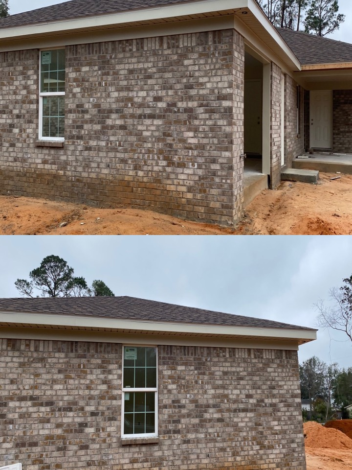 Installed vinyl soffit and fascia here in Lilian Alabama.  Call us for all your vinyl siding and seamless gutter needs.
