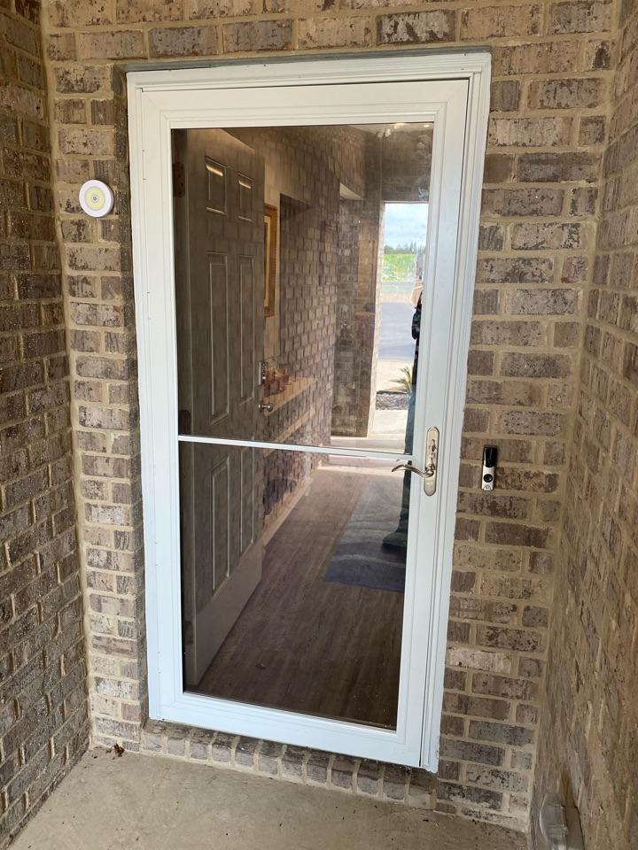 Crestview, FL - Installed a storm door today in Crestview Fl