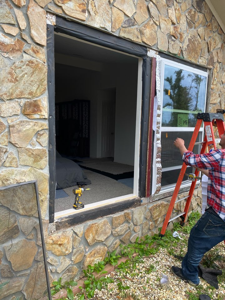 Installing brand new windows on this home in Panama City Florida