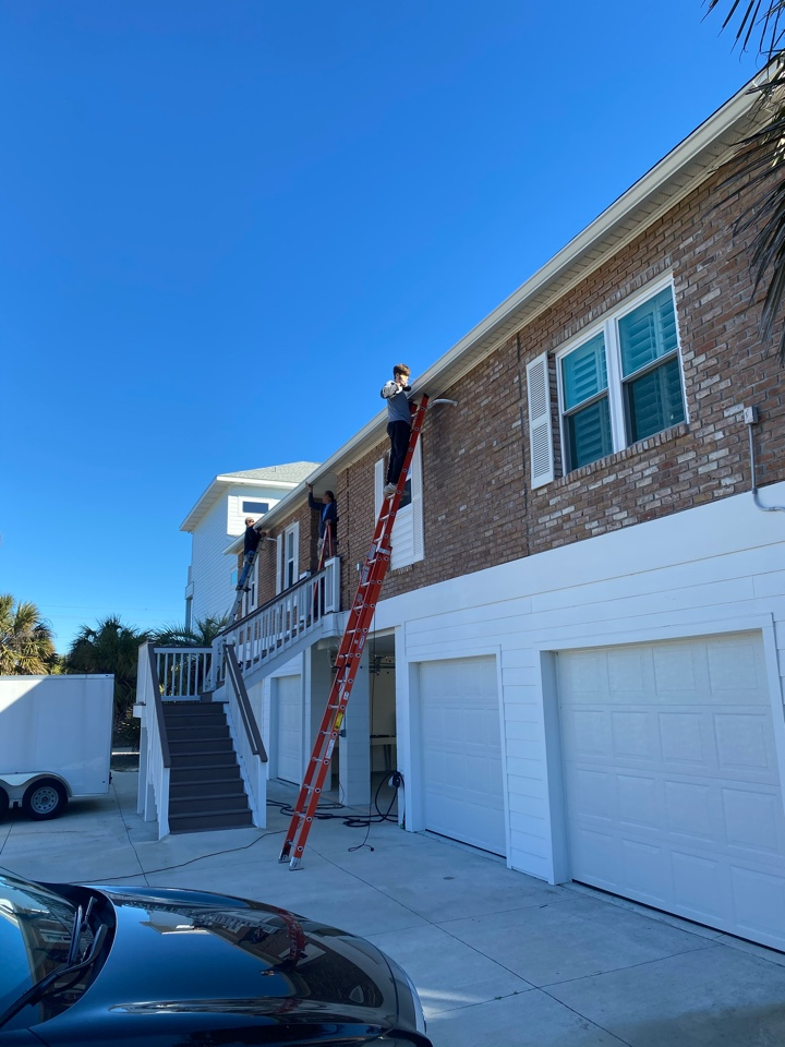We are installing a 65 foot run all seamless almost home in Pensacola Beach
